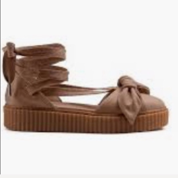 newest 30a7b 351d6 Fenty puma by Rihanna wrap around creeper flats
